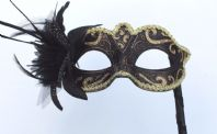 Gold and Black Flower Mask